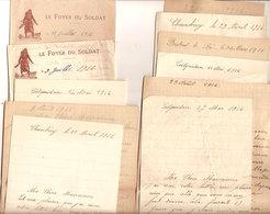 (St.Post.).Francia.Lotto 19 Lettere Di Soldati Francesi Durante La 1^ GM (119-19) - Frankreich