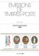 France, Notices Philatéliques Année 1989, 36 Fiches + Les Hors Série - Autres Livres