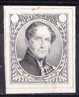 BELG.   ESSAI DE DELPIERRE (1849) EPREUVE SUR PAPIER BLANC-NOIR SANS INDICATION DE VALEUR - Probe- Und Nachdrucke