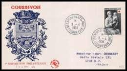 445 France Lettre (cover) Croix Rouge (red Cross) N° 967 Louis Le Nain. - Cruz Roja