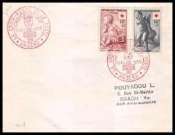 452 France Lettre (cover) Croix Rouge (red Cross) N° 1049 / 1049 L'enfant à La Cage / L' Oie - Cruz Roja
