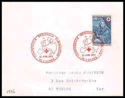 473 France Lettre (cover) Croix Rouge (red Cross) N° 1620 L'Eté / L'Hiver. - Cruz Roja