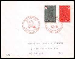 484 France Lettre (cover) Croix Rouge (red Cross) N° 1735 / 1736 N. Desgenettes - F. Broussais - Cruz Roja