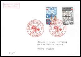 486 France Lettre (cover) Croix Rouge (red Cross) N° 1828 / 1829 - L'été / L'hiver. - Cruz Roja