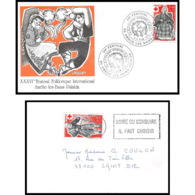 491 France Lettre (cover) Croix Rouge (red Cross) N° 1959 / 1960 Santons. Chemineau / Guérisseuse - Cruz Roja