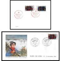 494 France Lettre (cover) Croix Rouge (red Cross) N° 2175 / 2176 Eglise Du Sacré-cœur D'Audincourt. - Cruz Roja