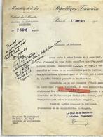 Lettre Ministère De L'air 1937 Section AVIATION / PARIS / Appareil CAUDRON LUCIOLE Contrôle Veritas - Transportmiddelen