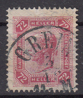 OOSTENRIJK - Michel - 1904 - Nr 118 (Met Lakstrepen) - Gest/Obl/Us - Usati