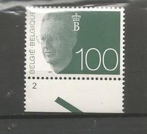 OCB 2481 ** Postfris Zonder Scharnier Met Plaatnummer 2 - 1990-1993 Olyff