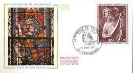 Enveloppe 1er Jour : Cathédrale De Strasbourg (67) - Eglises Et Cathédrales