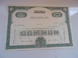 EXECUTONE (USA) - Shareholdings