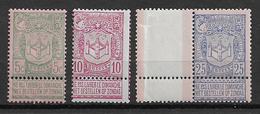 OBP68/70 Postfris** Met 68a, 70a En 69 Op Wit Papier - 1894-1896 Exhibitions
