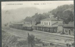 07 Ardèche Privas La Gare PLM Chemin De Fer Train - Privas