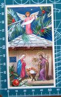 Eb 2/073 Natività Sacra Famiglia Natale SANTINO Con Inno - Santini