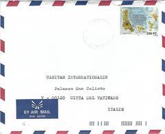 Comores 1996 Moroni Map Cartography Michel 1119 Cover To Vatican - Komoren (1975-...)