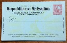 TARJETA POSTAL REPUBBLICA DEL SALVADOR  5+5  CENTAVOS  CARTOLINA POSTALE CON RISPOSTA PAGATA  NUOVA - Stamps