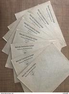 Lot De 8 Enveloppes Amis De L'instruction Laïque Section De MARIGNANE - Vieux Papiers
