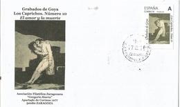 "SPAIN. COVER GOYA ENGRAVING. CAPRICHOS 10. ""TU SELLO"" - 1931-Hoy: 2ª República - ... Juan Carlos I"