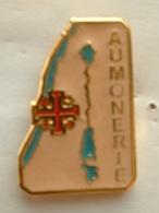 PIN'S  SCOUT DE FRANCE - AUMONERIE - Associazioni