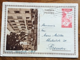 TARJETA POSTAL  VENEZUELA  CARTOLINA POSTALE  22,5 C.  FROM CARACAS TO BREMEN  - GERMANY - Stamps