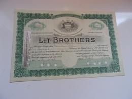 LIT BROTHERS (USA) - Azioni & Titoli