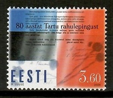 Estonia 2000 / Peace Treaty MNH Tratado De Paz / Kh01  10-8 - Estonia
