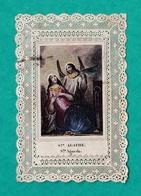 Sainte Agathe, Santa Agueda, Canivet, Imp. René, 1863, Provient Du Siège De Puebla, Mexique - Images Religieuses