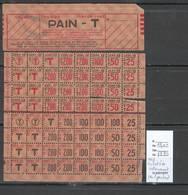 France- Tickets De Rationnement De Pain - 1943 - Historische Documenten
