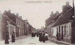 39  A61  CPA  ESTREES SAINT DENIS GRANDE RUE TBE - Estrees Saint Denis
