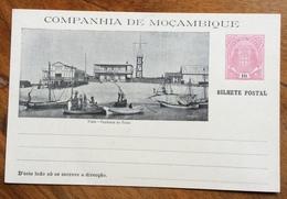 NAVIGAZIONE  BEIRA  - IL PORTO  CON BARCHE  COMPANHIA DE MOCAMBIQUE  BILHETE POSTAL  10 R. CARTOLINA POSTALE - Postal Stationery