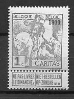 OBP92, Postfris** - 1910-1911 Caritas