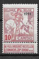 OBP98, Postfris** - 1910-1911 Caritas