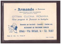 FORMAT 10x15cm - ROMA - TRATTORIA DA ARMANDO - TB - Bars, Hotels & Restaurants