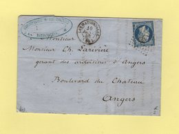 Les Batignolles - 60 - Seine - 10 Janv 1856 - Marcophilie (Lettres)