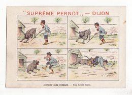Chromo  BISCUITS PERNOT   Histoire Sans Paroles    Enfant Et Chien - Pernot