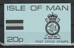 ILE DE MAN CARNET SACHET (Booklet) 1975 - POST OFFICE BADGE - 20p - Isle Of Man