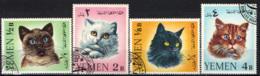 YEMEN - 1971 - SERIE GATTI - CATS - USATI - Yemen