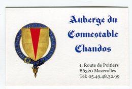 CdV °_ Resto-86-Mazerolles-Auberge Du Connestable Chandos - Cartes De Visite