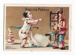 Chromo  BISCUITS PERNOT   Pierrot Et Arlequin - Pernot