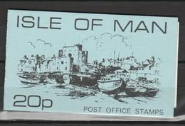 ILE DE MAN CARNET SACHET (Booklet) 1976 RUSHEN AND CASTLETOWN HARBOUR - 20p BLEU - Isle Of Man