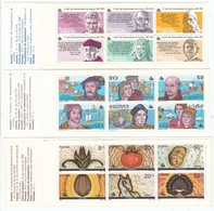 Spain 1986-89 - 500th Anniversary Of America Discovery, 3 Booklets, MNH** - 1931-Today: 2nd Rep - ... Juan Carlos I