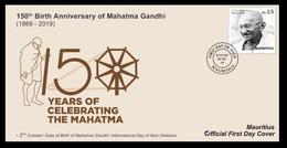 Gandhi Mauritius Official FDC - Mahatma Gandhi