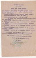 WW2 - Commune De Trun (Orne). Garde Des Voies Ferrées. Message Daté Du 19 Novembre 1943 - Documents Historiques