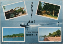 Saluti Dal Camping Nerone (Val Di Lago, Sasn Lorenzo Nuovo, Lago Di Nolsena, Viterbo). Scritta 1980 Non Viaggiata - Souvenir De...