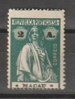 MACAU CE AFINSA 212c - NOVO COM CHARNEIRA (I-I) - Nuevos