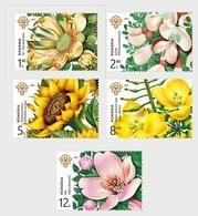 Romania 2019 / Melliferous Flowers / Set 5 Stamps - 1948-.... Repúblicas