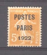 France  -  Préos  :  Yv  30  (*)   Bon Centrage - 1893-1947