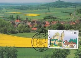 Germany Maximum Card 1995: Nature Protection; Fränkische Schweiz - Umweltschutz Und Klima