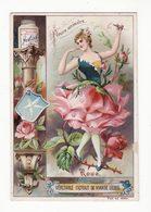 Chromo  LIEBIG    Fleurs Animées    Rose - Liebig