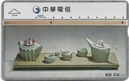 Taiwan - Chunghwa Telecom - L&G - Tea Set 2 - 694L - 1997, 100U, Used - Taiwán (Formosa)